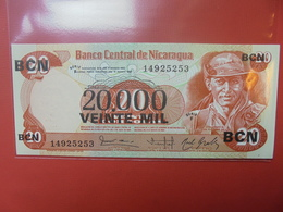 NICARAGUA 20.000/20 CORDOBAS 1987 PEU CIRCULER/NEUF - Nicaragua