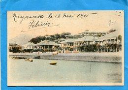 JAPON*NAGASAKI-Les Résidences Du Port De Pêche-a Voyagé En 1905 - Autres