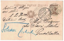 AN158   Regno 1926 Cartolina Postale Da Brescello Per Guastalla Doppio Annullo Frazionario - Storia Postale