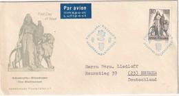 FINLANDE 1957 FDC DE HELSINKI PAR AVION - Finlande
