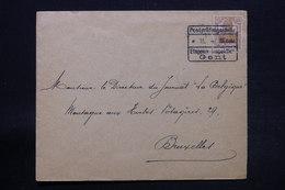 BELGIQUE - Cachet D'Etape De Gent Sur Enveloppe Commerciale Pour Bruxelles En 1917 - L 28271 - [OC26/37] Staging Zone