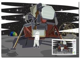 Luxemburg 2019   50yrs Moonlanding  Space    50jr Maanlanding  Ruimtevaart  MAXICARD       Postfris/mnh/neuf - Luxemburg
