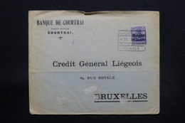 BELGIQUE - Cachet D'Etape De Gent Sur Enveloppe Commerciale De Courtrai Pour Bruxelles En 1916 - L 28272 - [OC26/37] Staging Zone