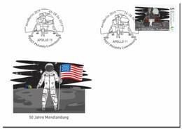 Luxemburg 2019   50yrs Moonlanding  Space    50jr Maanlanding  Ruimtevaart    FDC                      Postfris/mnh/neuf - Luxemburg