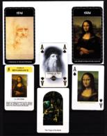 Lot 6 Cartes De Jeu, Léonard De Vinci, Joconde, La Vierge Au Rocher - Vieux Papiers
