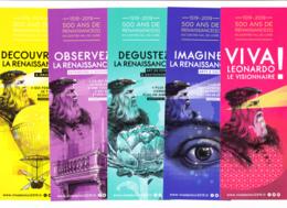 Lot 5 Marque-pages, Léonard De Vinci, - Marque-Pages