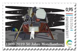 Luxemburg 2019   50yrs Moonlanding  Space    50jr Maanlanding  Ruimtevaart              Postfris/mnh/neuf - Luxemburg