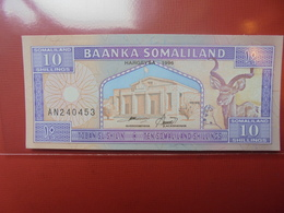 SOMALIE 10 SHILLINGS 1996 PEU CIRCULER/NEUF - Somalia