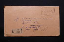 TCHAD - Enveloppe Des PTT En Recommandé De Fort Lamy Pour L ' Ambassadeur Du Tchad à Bruxelles En 1970 - L 28276 - Tchad (1960-...)