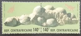 Central African Republic 1996 Dinosaur Eggs PAIR - Central African Republic