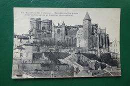 Auch (gers) Auch à Vol D'oiseau Catheédrale Ste Marie Tour D'armagnac Et Escalier Monumental  écritte En 1916 - Auch