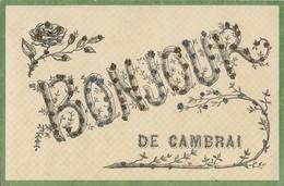 CARTE POSTALE ORIGINALE ANCIENNE : BONJOUR DE CAMBRAI NORD (59) - Cambrai