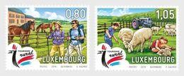 Luxemburg 2019  TOURISME SHEEP HORSES  TOERISME SCHAPEN PAARDEN  SET VAN 2                             Postfris/mnh/neuf - Luxemburg