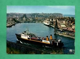 76 Seine Maritime Dieppe Vue Du Port Avec Le Rynstroom Bateau Cargo Ship Navire Hollandais - Commerce