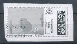 Montimbrenligne Lettre Verte 20g - Poussin (o) Sur Fragment - Sellos Personalizados (MonTimbraMoi)