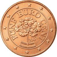 Autriche, 5 Euro Cent, 2007, SUP, Copper Plated Steel, KM:3084 - Austria