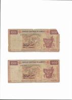 Lot 2 Billets De 1000 Francs Djiboutien - Djibouti