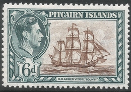 Pitcairn Islands. 1940-51 KGVI. 6d MH. SG 6 - Stamps