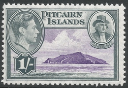 Pitcairn Islands. 1940-51 KGVI. 1/- MH. SG 7 - Stamps