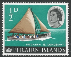 Pitcairn Islands. 1964-65 QEII. ½d MH. SG 36 - Stamps