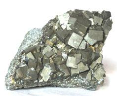 613 - PIRITE XX CUBICI - ISOLA D'ELBA Dimensioni Mm. 80x60x50 Peso Gr 360 - Minerali