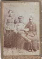 RUSSIA. #1784 A PHOTO. OFFICE. MILITARY WITH WIFE AND SESTROY. RUSSIAN TYPES. *** - Proiettori Cinematografiche