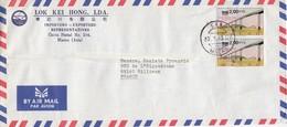 COVER. LETTRE. MACAU - 1999-... Région Administrative Chinoise
