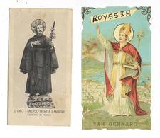 Santini Santino Immagine Religiosa Di San Gennaro Patrono Di Napoli Di San Ciro Patrono Di Portici Campania (v.retro) - Religione & Esoterismo
