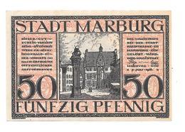 **notgeld  Marburg 50 Pfennig M7.3 Cat Val 3,00 Euro - [11] Emissions Locales