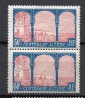 - FRANCE Variété N° 263b Neuf * - 50 C. Centenaire Algérie 1930 - ALCERIE Tenant à ALGERIE - Cote 120 EUR - - Variétés Et Curiosités