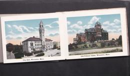 Vers 1900 Multivues Souvenir De Worcester : College,station,franklin Square... - Worcester