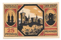 **notgeld  Meiningen 25 Pfennig M24.3 - [11] Emissions Locales