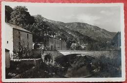 Cpsm 07 MAYRES Ardeche, Vieux Pont De La Vierge Et Usine Coudene - N&b - France