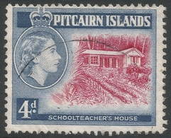 Pitcairn Islands. 1957-63 QEII. 4d Type II Used. SG 23a - Stamps