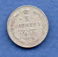 Russie -  5 Kopeks  1911  - -  état  TB+ - Russie