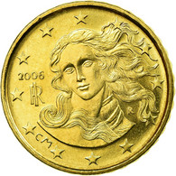 Italie, 10 Euro Cent, 2006, SUP, Laiton, KM:213 - Italie