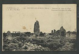 Marne , Perthes Les Hurlus , Panorama Des Ruines Du Village - France