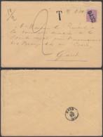 """Belgique - Lettre 46 Annulé Par Griffe """"Gand"""" Taxe """"2"""" 19grammes/2ports  (DD) DC2931 - 1884-1891 Leopold II"""