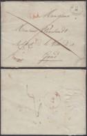 """Belgique - 1841 T18 Mouscron 14VI Vers Gand Taxe """"3"""" RARE (DD) DC2939 - 1830-1849 (Belgique Indépendante)"""