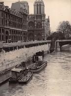 PARIS - Cliché De Presse De La Crue De La Seine Au Pont Saint-Michel En 1947 - Vue Sur Notre-Dame -  Voir Description - Arrondissement: 16
