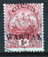 Bermuda 1d War Tax Stamp From The 1918 Series. - Bermuda