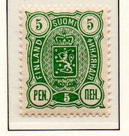PIA - FINLANDIA - 1885  : Uso Corrente - Stemma  (Yv 21) - Unused Stamps