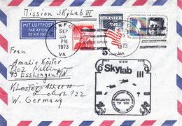 1973 USA  Space Station SKYLAB 3  Commemorative Cover - América Del Norte
