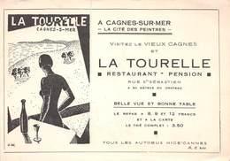 CAGNES-sur-MER - Restaurant-Pension La Tourelle, Rue Saint-Sébastien - Illustrateur J. W. - Cagnes-sur-Mer