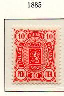 PIA - FINLANDIA - 1885  : Uso Corrente - Stemma  (Yv 22) - Unused Stamps
