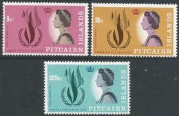 Pitcairn Islands. 1968 Human Rights Year. MH Complete Set. SG 85-87 - Stamps