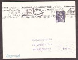 Cherbourg Fêtes De La Mer Juillet 1952 - Maschinenstempel (Werbestempel)