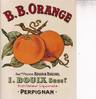 66 / PERPIGNAN / BOUIX / B.B ORANGE - Etiquettes