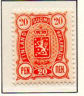 PIA - FINLANDIA - 1885  : Uso Corrente - Stemma  (Yv 23) - Unused Stamps