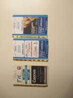 NEW Napoli N.3 Used Tickets Canova Libro Caravaggio - Autobus